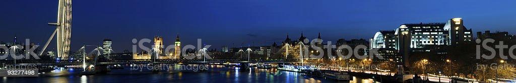 XXXL - City of Westminster skyline. (Big Ben, London Eye) royalty-free stock photo