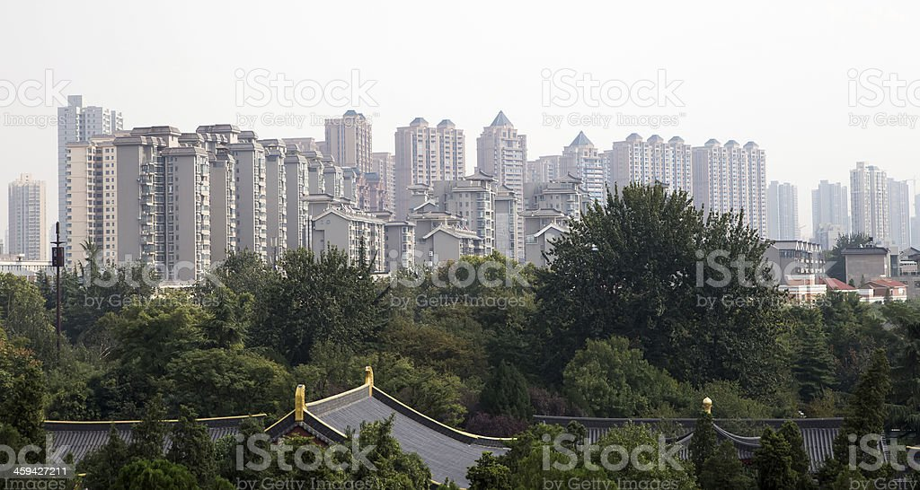city of Xian, Shaanxi province, China stock photo