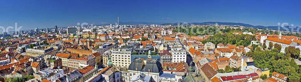 City of Zagreb panoramic view royalty-free stock photo