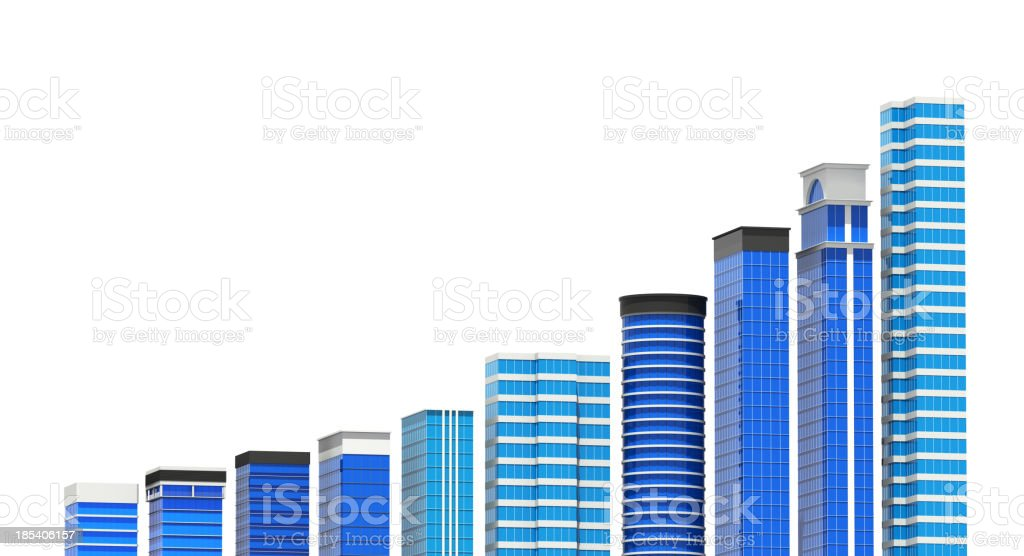 City Office Building Chart stock photo