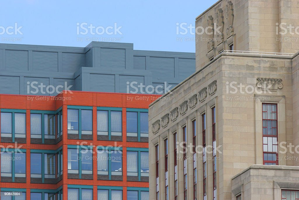 City Office Buildings with Sky royalty-free stock photo