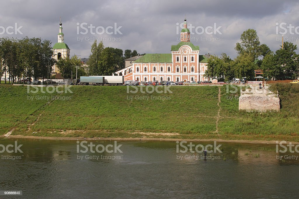 City On A River stock photo
