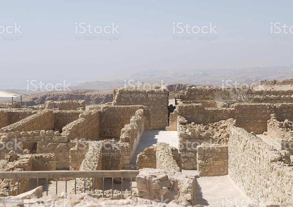 City on Mount Masada stock photo