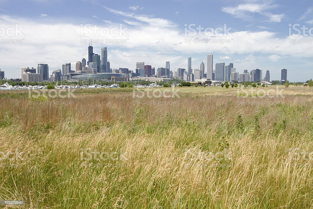 City on the prairie stock photo