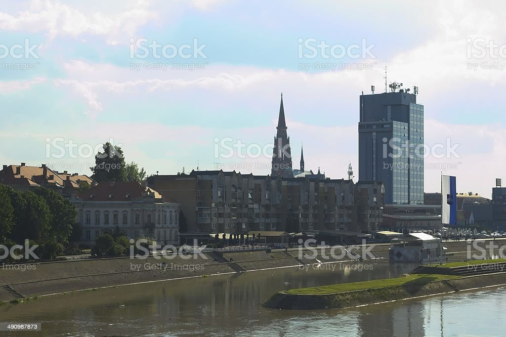City Osijek stock photo