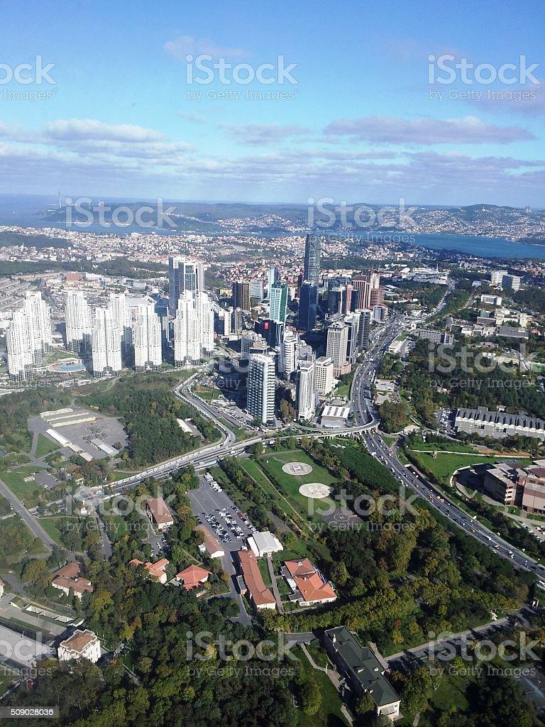 City Overhead stock photo