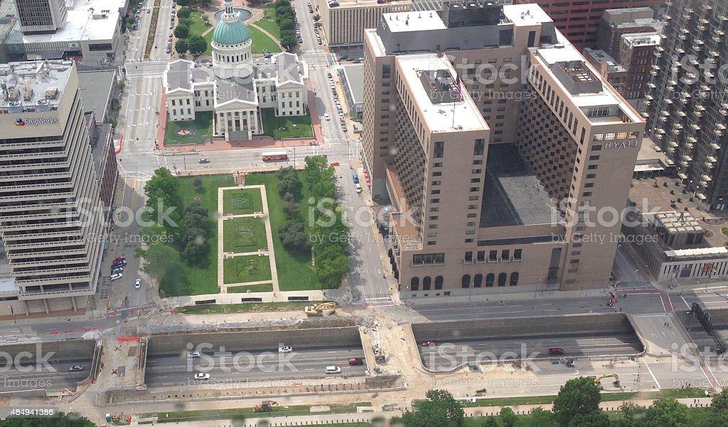 City overlook stock photo