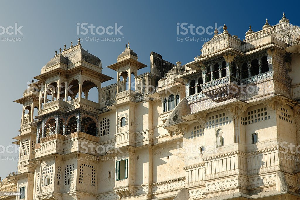 City Palace in Udaipur. stock photo