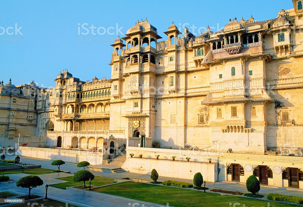 City Palace in Udaipur, Rajasthan, India stock photo