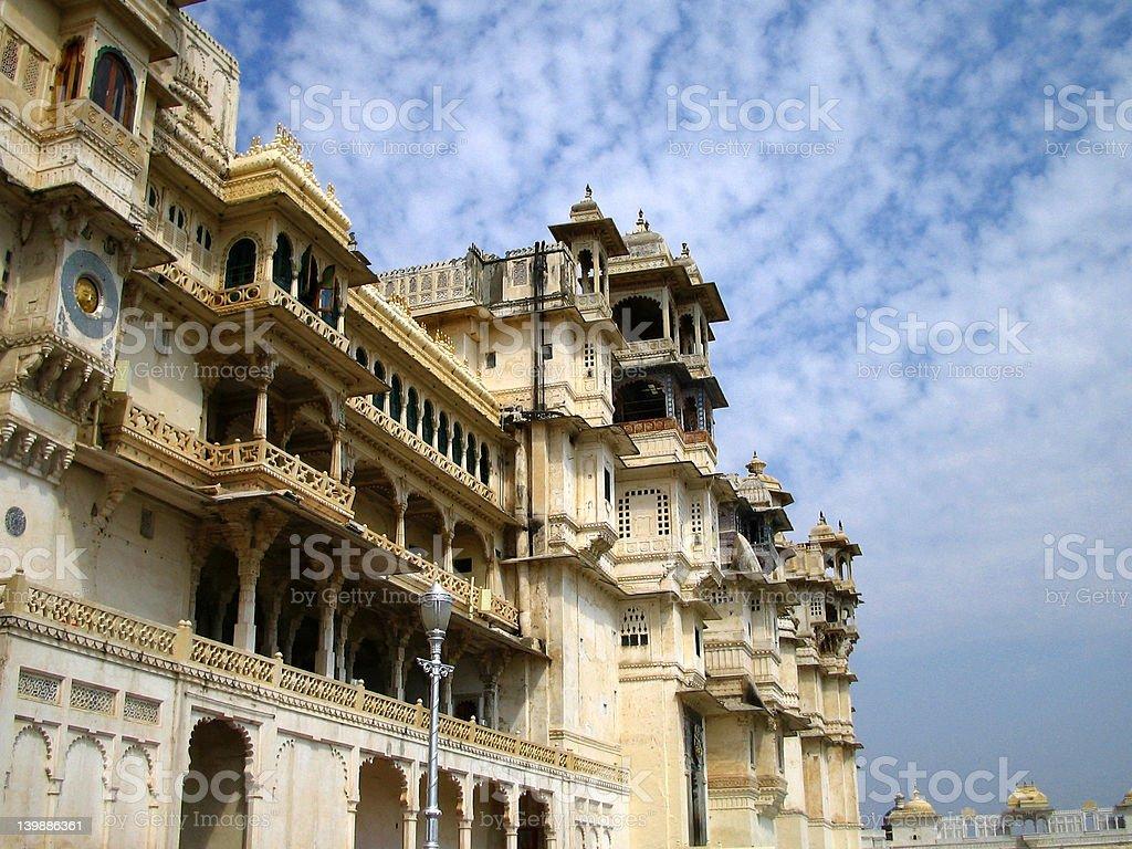 City Palace Udaipur royalty-free stock photo