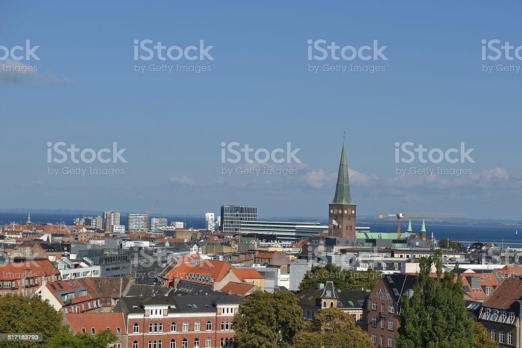 City Panorama Aarhus, Denmark stock photo