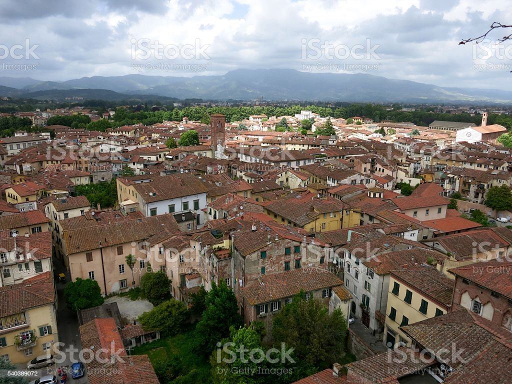 City Panorama Lucca stock photo