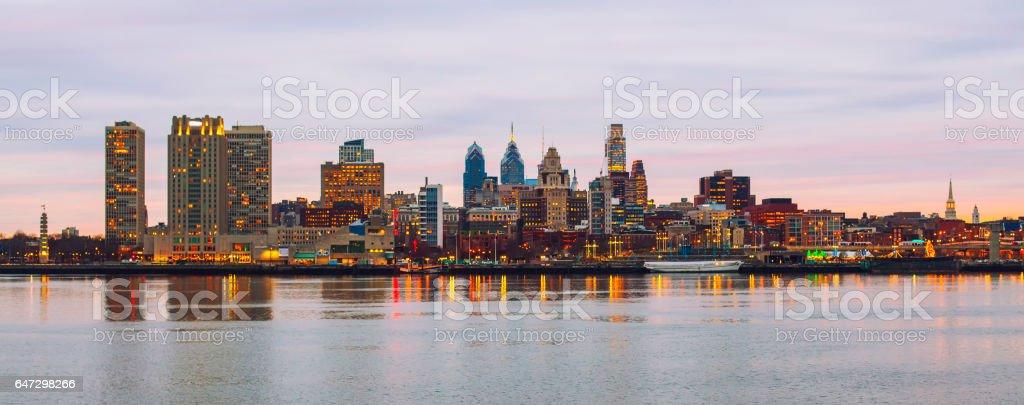 City panorama of Philadelphia stock photo