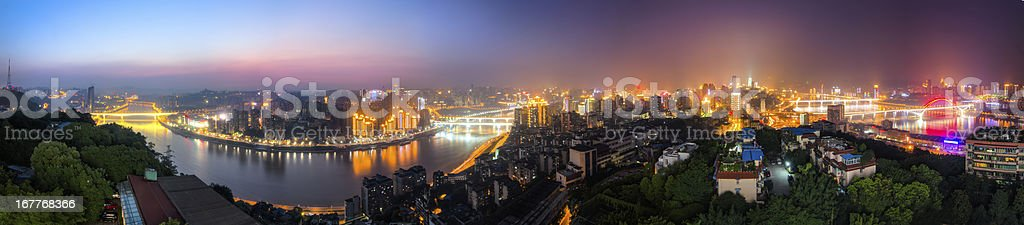 City Panoramic royalty-free stock photo