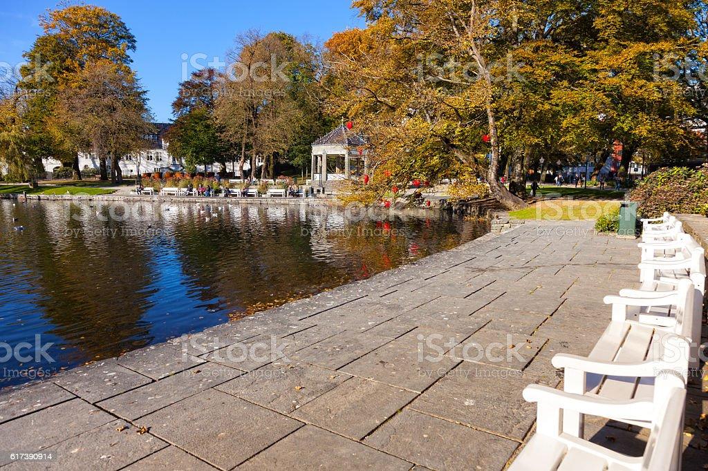 City Park at autumn stock photo