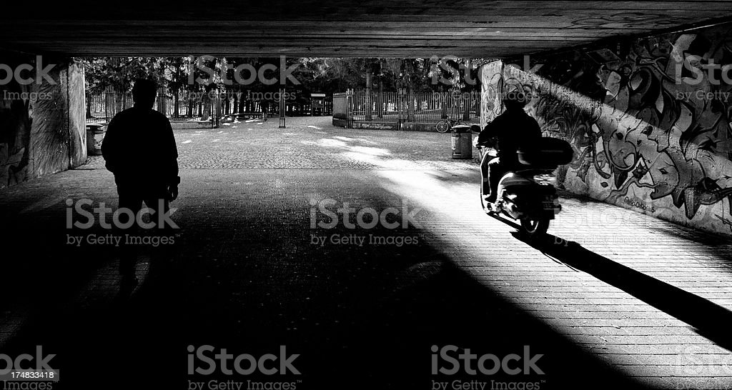 City Park. Black and White royalty-free stock photo