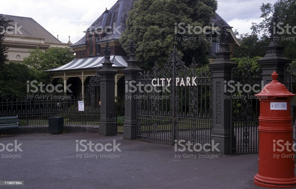 City Park Gates stock photo