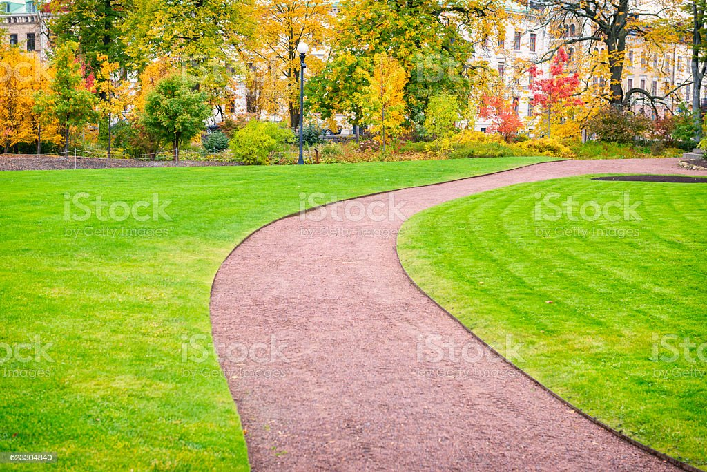 City park in beautiful colors stock photo