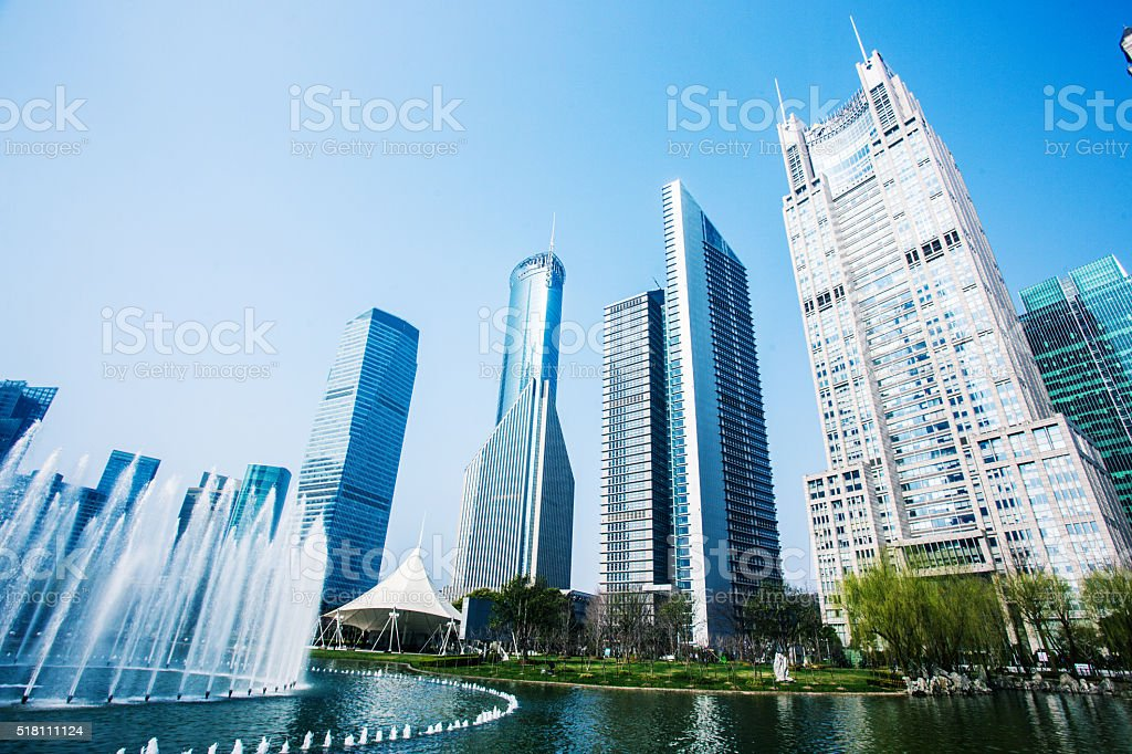 City park in shanghai stock photo
