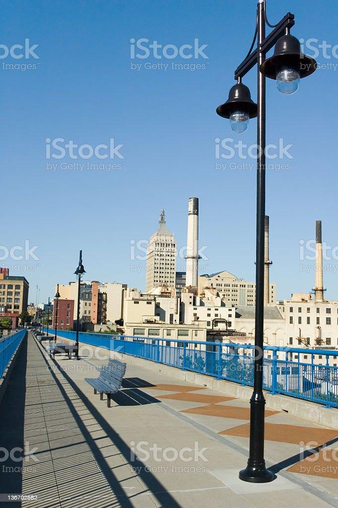 City Park Sidewalk, Rochester, New York, NY, USA stock photo