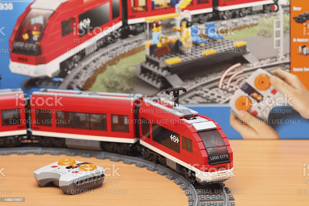 LEGO City Passenger Train 7938 stock photo