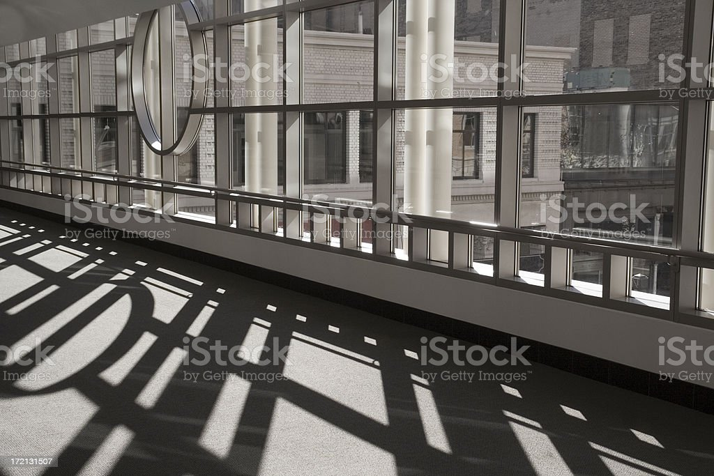 City Pedestrian Skyway stock photo