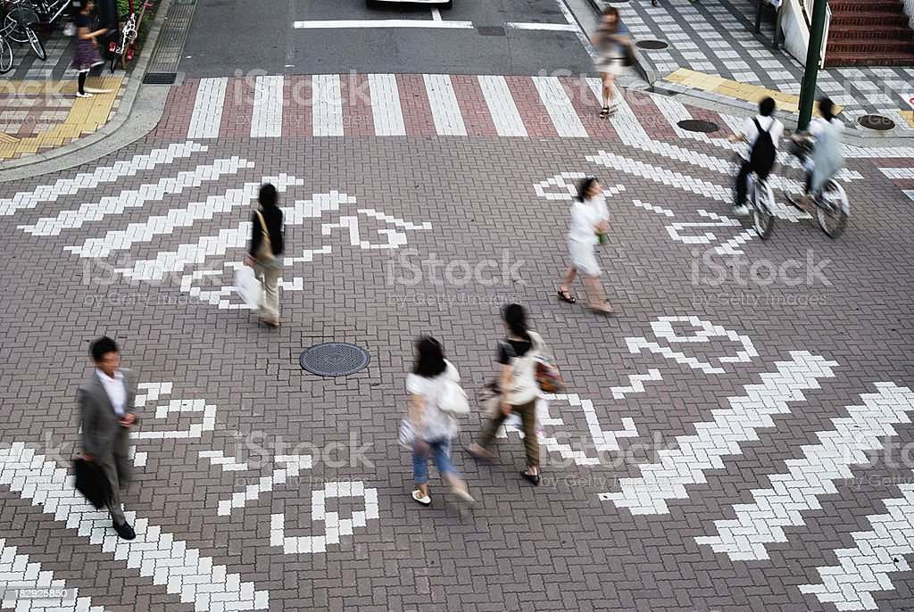 City people (A street scene in Japan) royalty-free stock photo