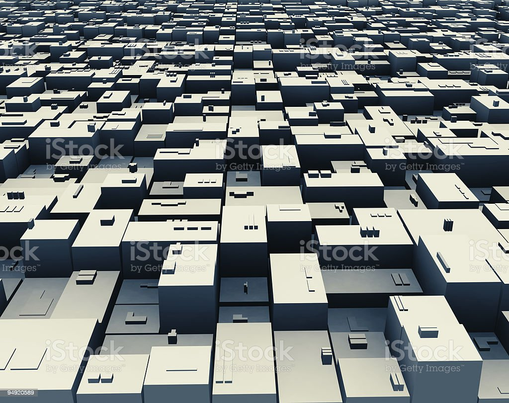 3D city royalty-free stock photo