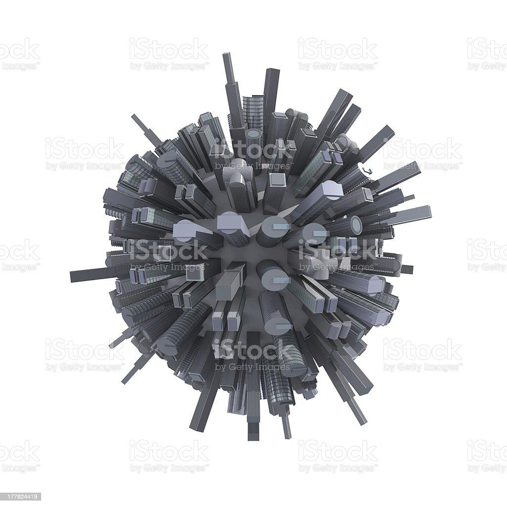 City planet stock photo