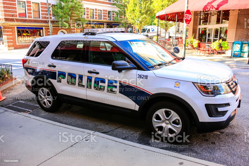 City Police vehicle in Asheville, NC, USA stock photo
