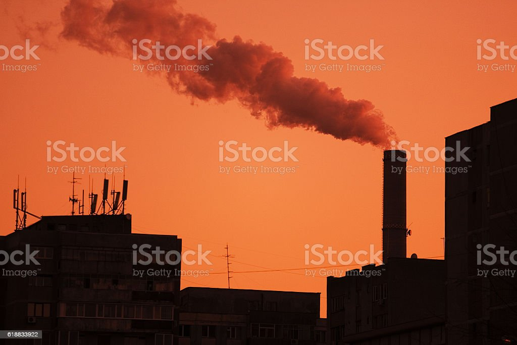 City pollution stock photo