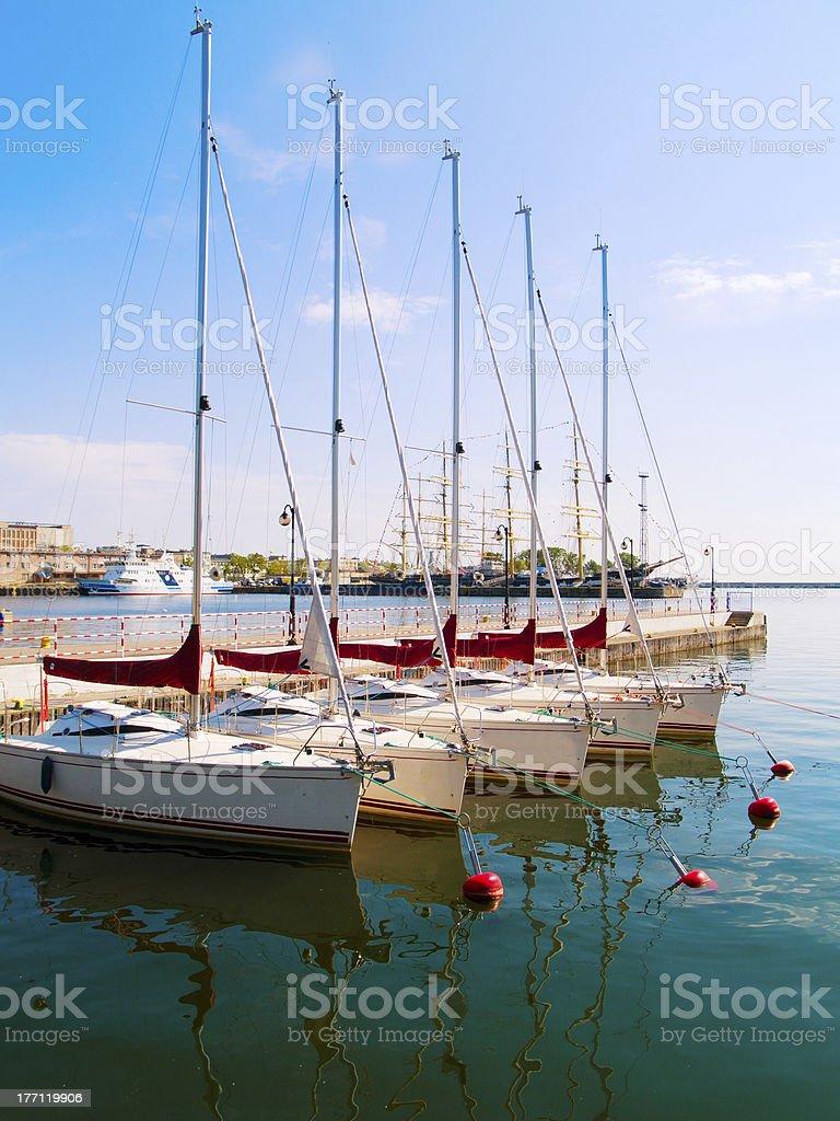 city port of Gdynia, Poland stock photo