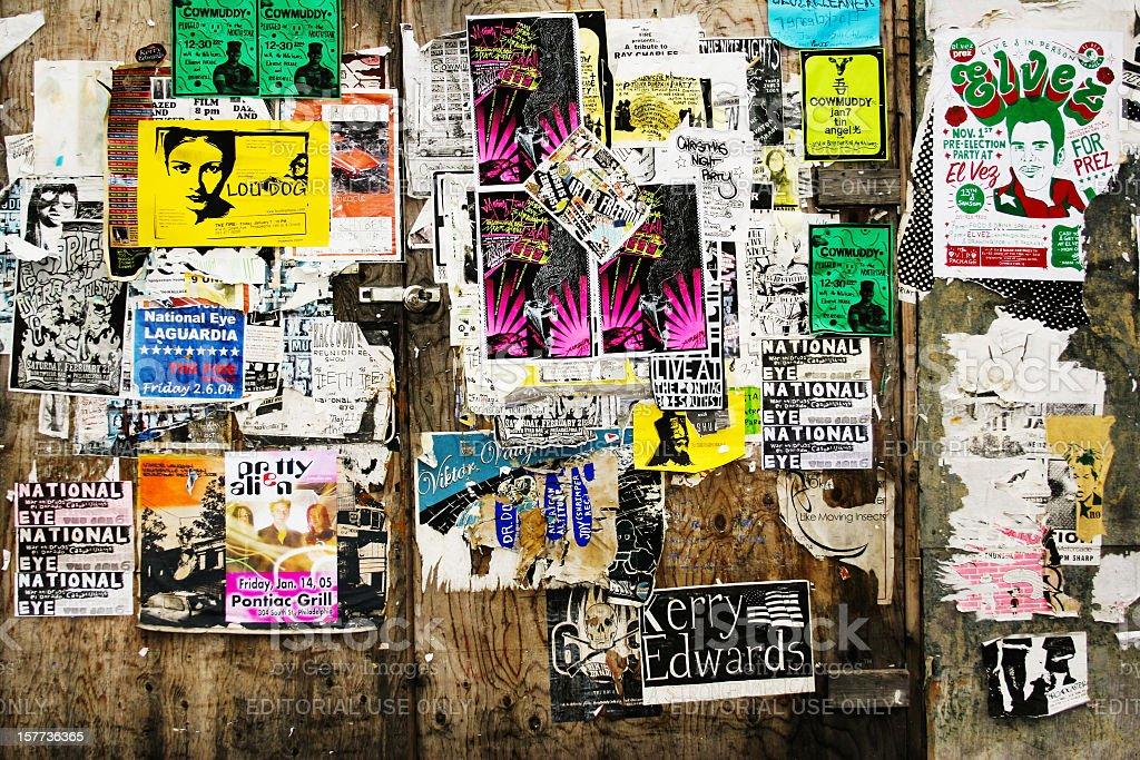 City posters stock photo
