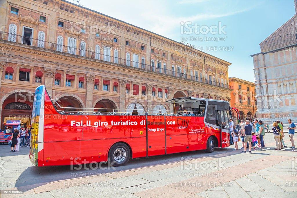 City Red Bus Bologna stock photo
