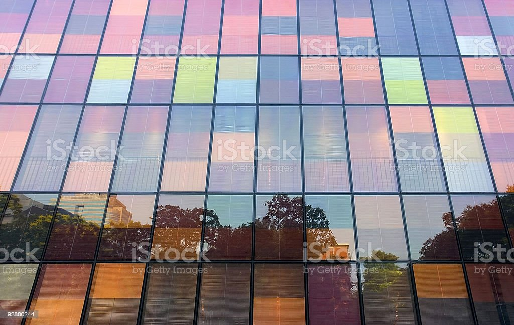 City reflected  in windows royalty-free stock photo