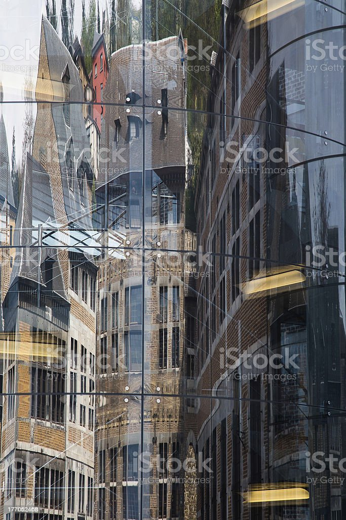 City reflection stock photo
