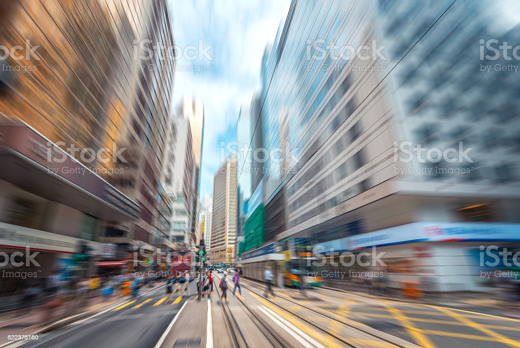 City rhythms--fast, speed. the rush time on the road stock photo
