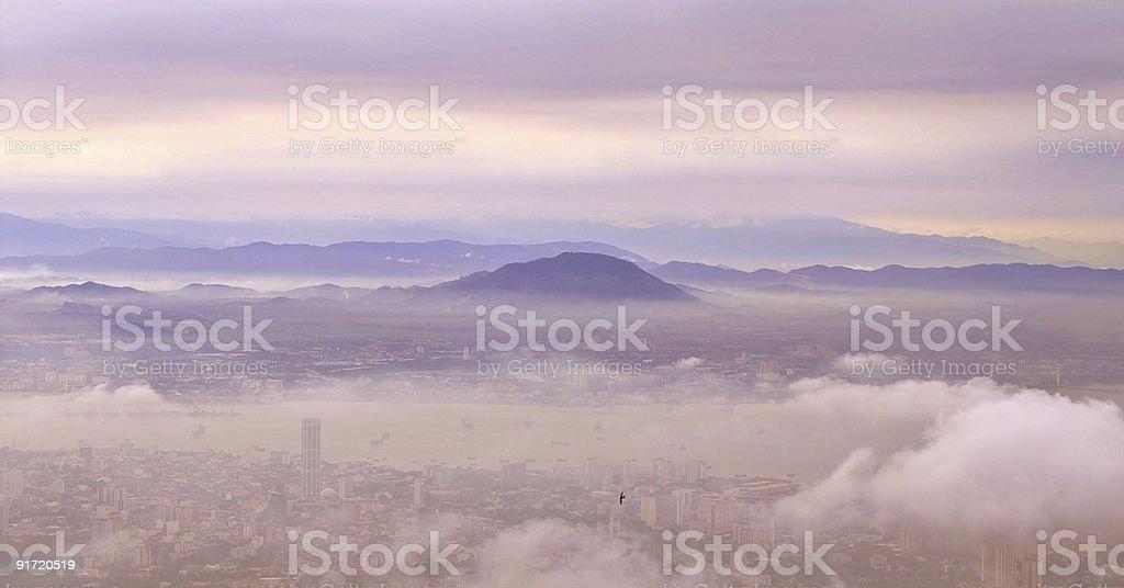 city rising royalty-free stock photo