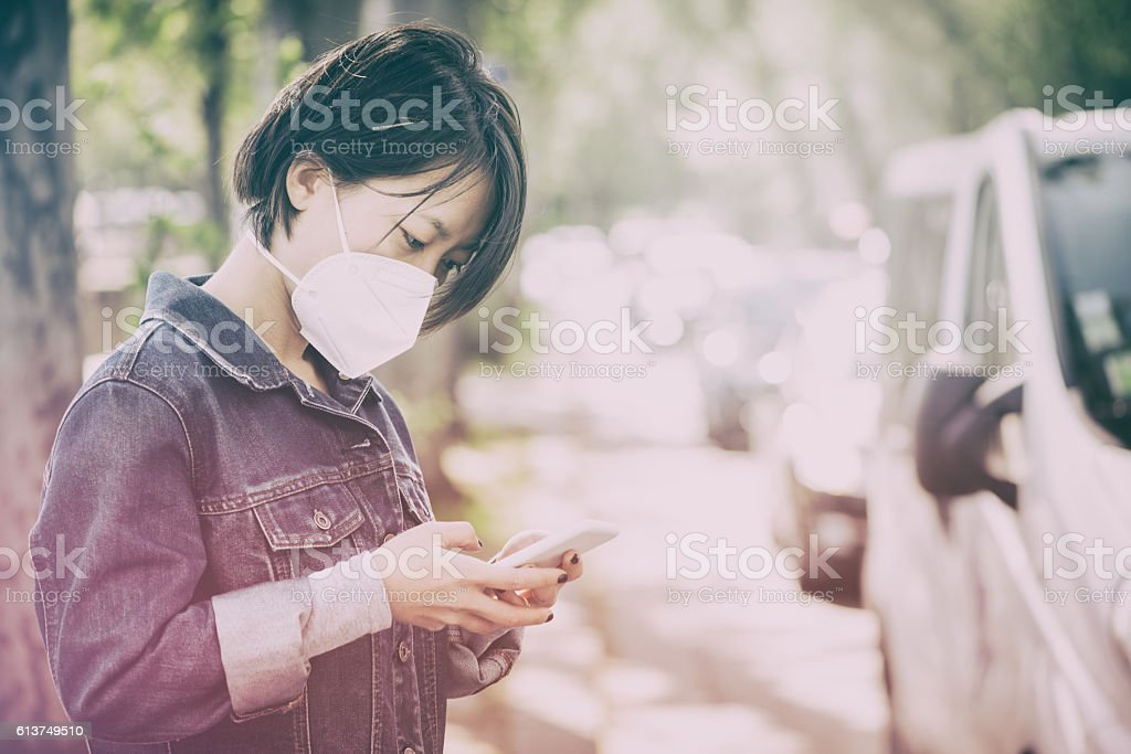 City Roadside Air Pollution stock photo