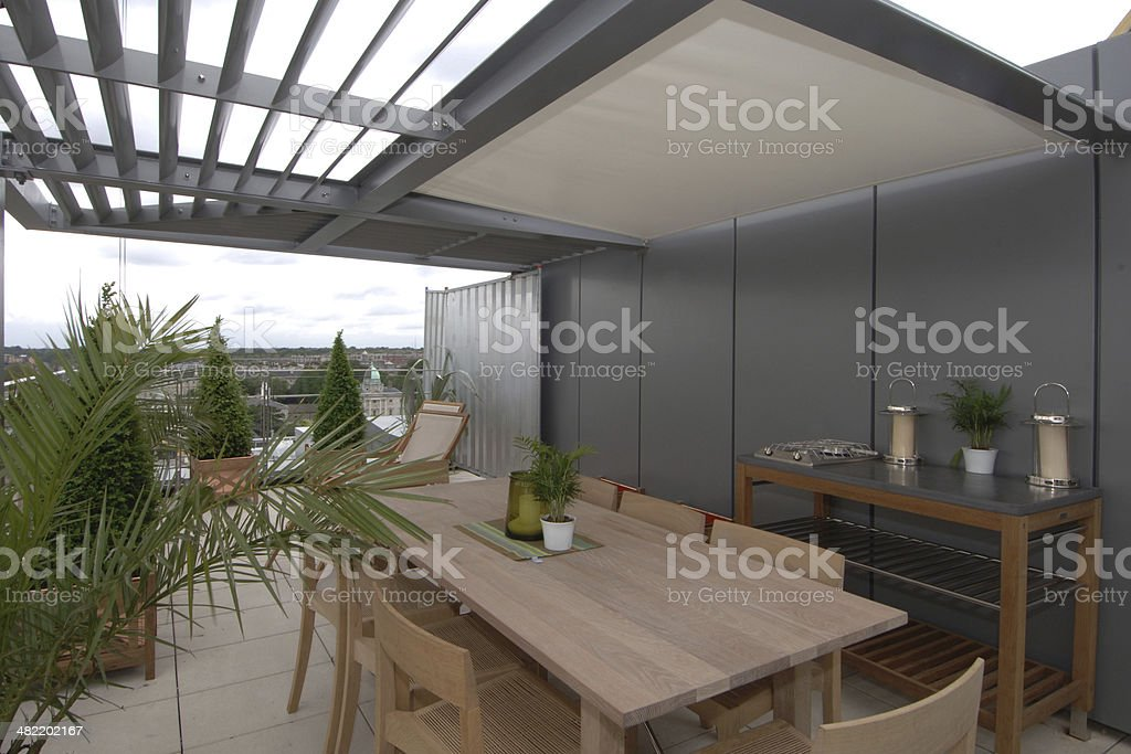 City Roof Terrace stock photo