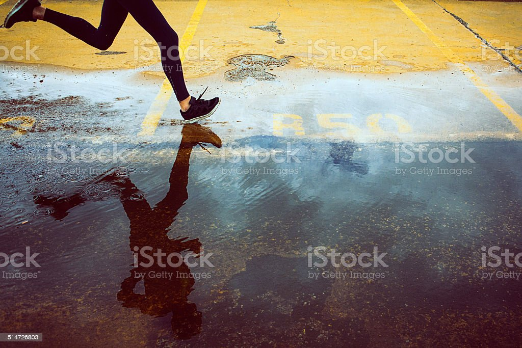 City Runner stock photo
