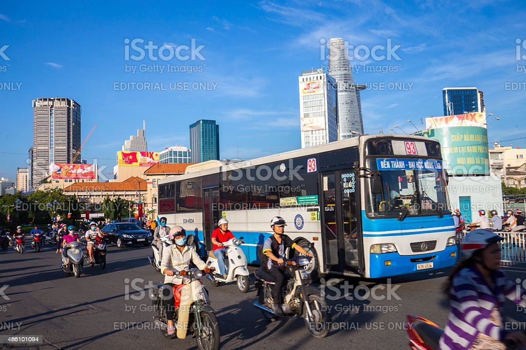 City scape of center of Ho Chi Minh city royalty-free stock photo