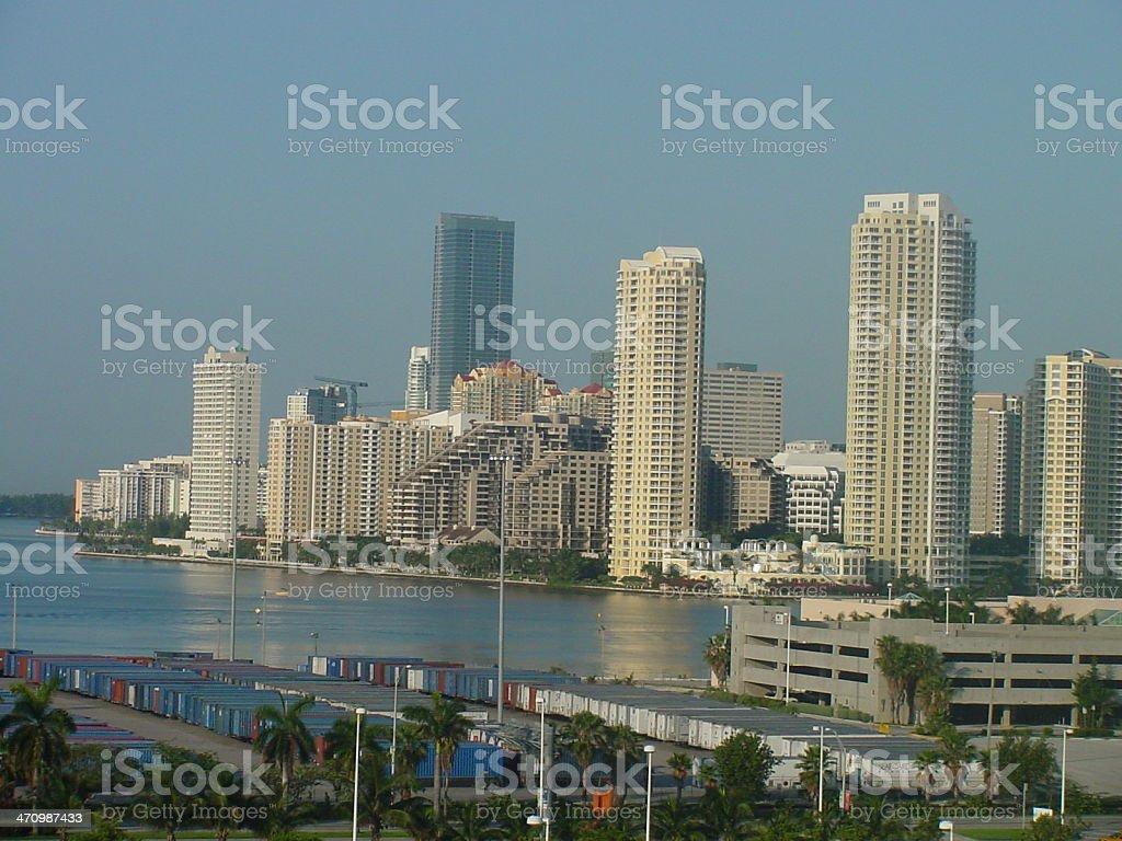 City Scape of Miami royalty-free stock photo