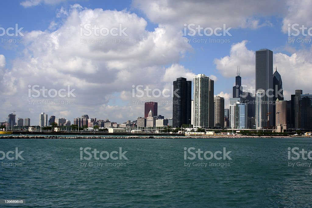 City Scape Over A River royalty-free stock photo