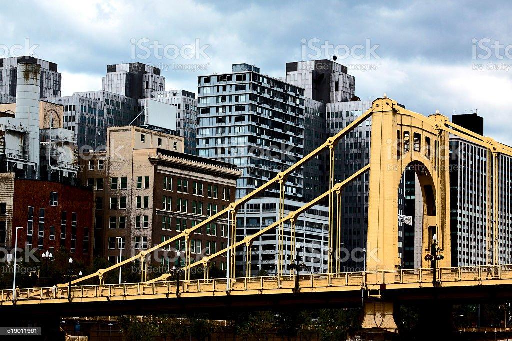 City Scape with Bridge stock photo