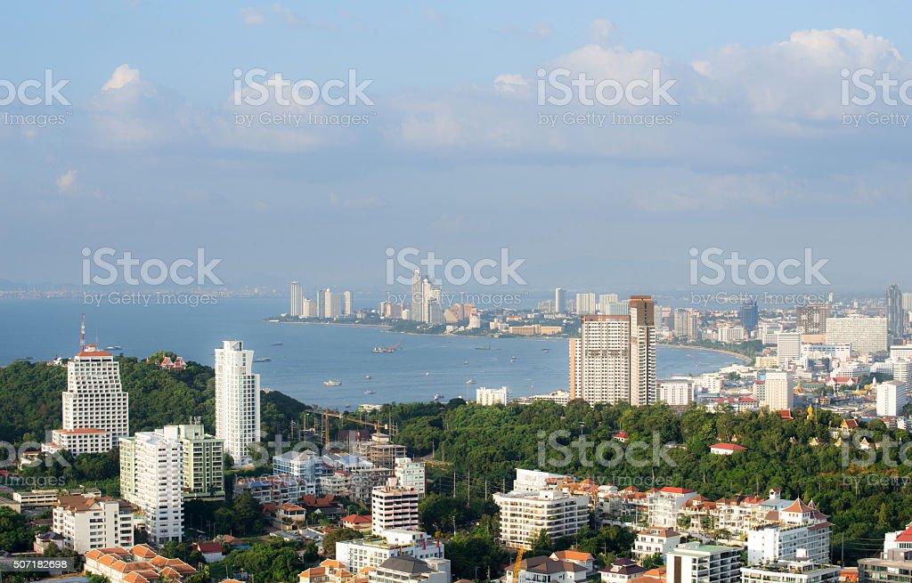 city scapes pattaya thailand 2015 stock photo