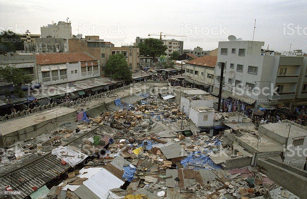 city scene - poverty stock photo