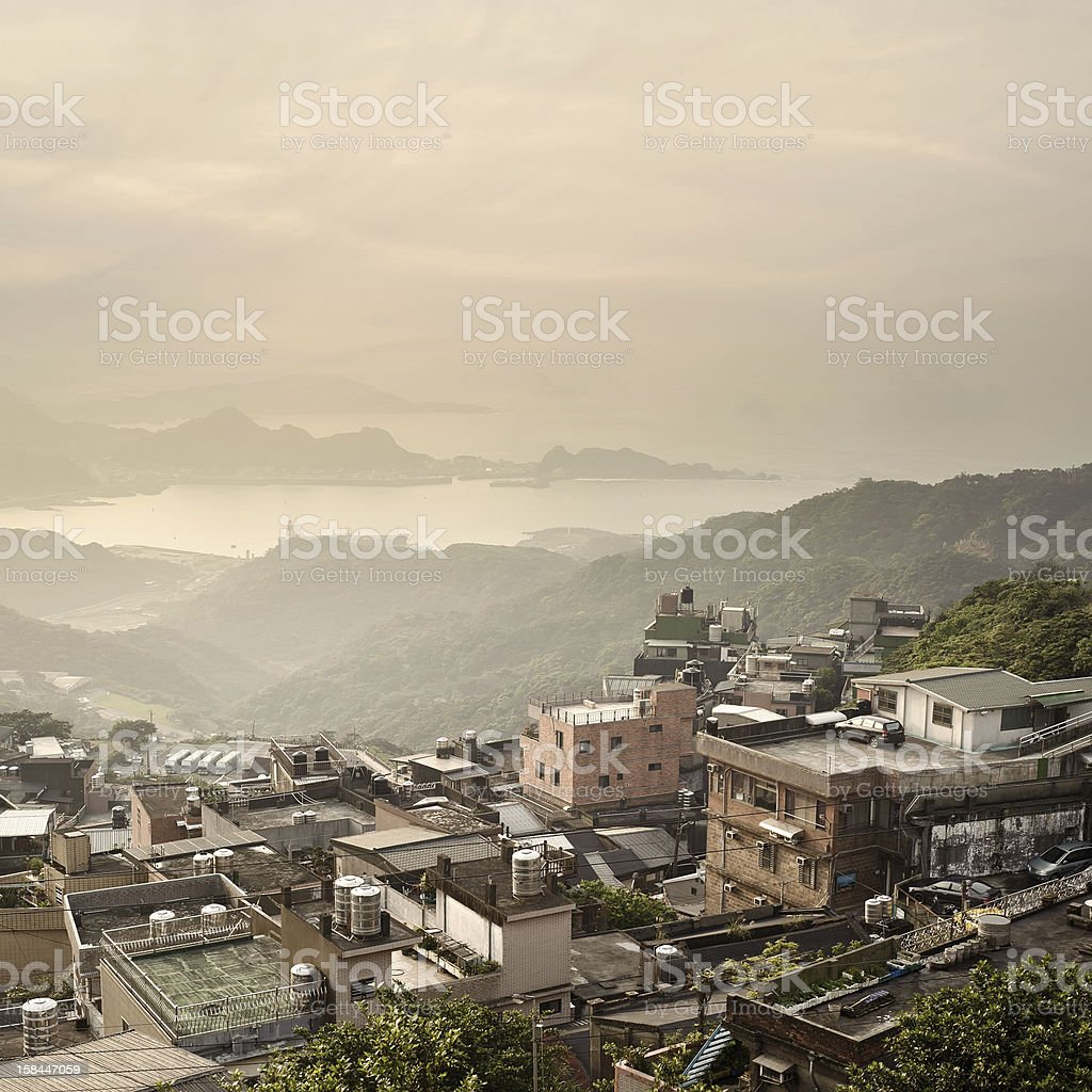 City scenery of Taiwan stock photo
