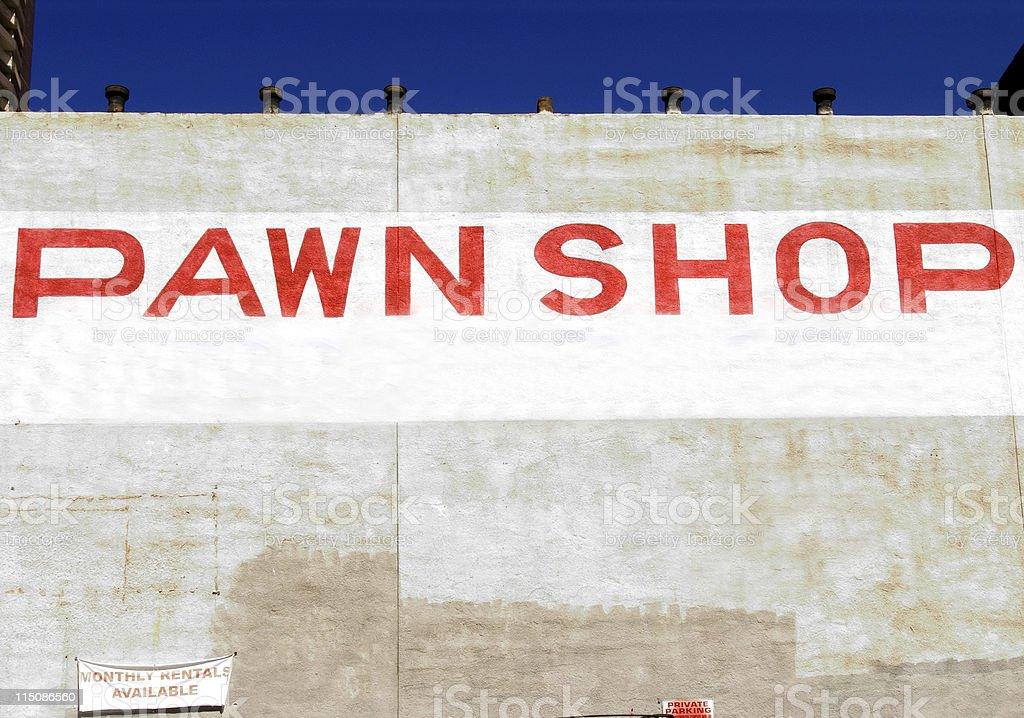 city scenes - pawn shop stock photo