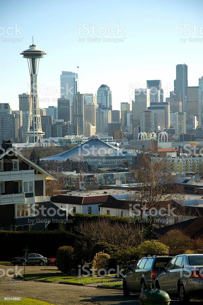 City - Seattle Neighborhood view stock photo